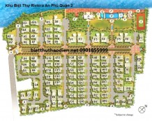 Bản đồ khu biệt thự Riviera Quận 2