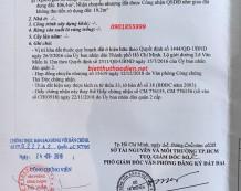 Bán đất thổ cư mặt tiền Lê Văn Miến Thảo Điền